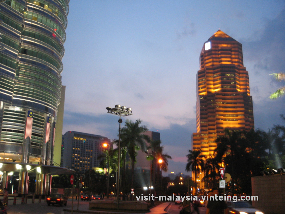 View of Suria KLCC during sunset