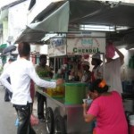 Where is the Penang famous cendol stall located...