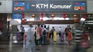 KTM Kommuter entrance in KL Sentral- there are 2 entrances