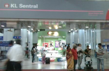 Aliran Kelana or Putra LRT entrance at KL Sentral