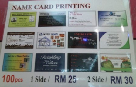 Where to get reasonable name card and personalised sticker printing in KL and PJ