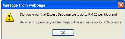 Air Asia booking- extra charge if you want to check in your luggage