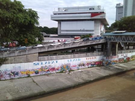 Graffiti in Kuala Lumpur near Central Market