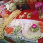 Vegetable and fruits decorations using inexpensive carve tools