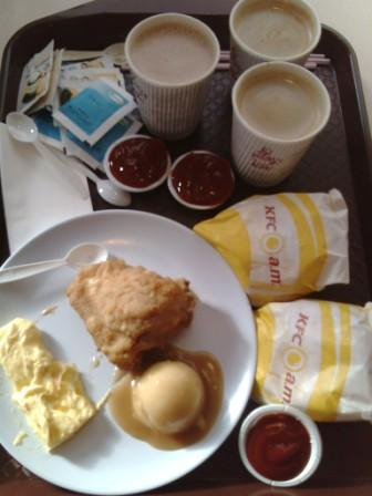 KFCam breakfast - How not to gain weight when our local diet is as such...