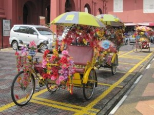 Trishaw or Beca rides in Malacca town