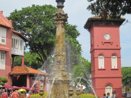 Clock Tower, Church & Victoria Fountain in Malacca