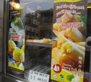 Famous Durian Spring Roll and Crispy Roll in Malacca