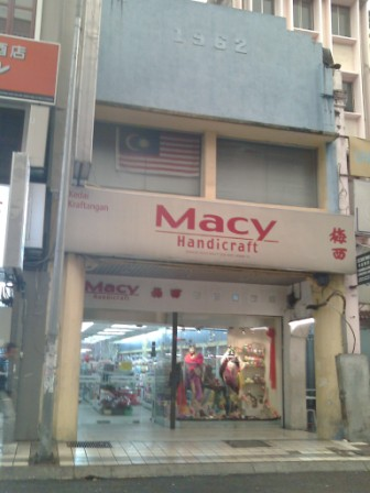 Macy and other arts and craft suppliers in Petaling Street