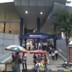 Masjid Jamek- busy area and train interchange