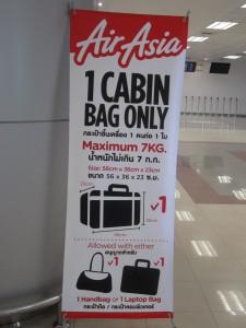 Air Asia 1 cabin bag policy