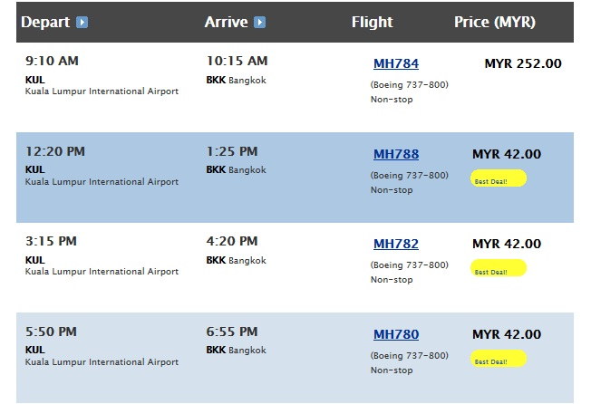 If Air Asia is expensive- check the MAS Airline