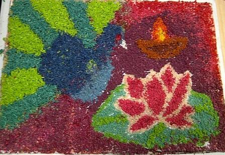 Rangoli or Kolam Project for Teams at the Workplace