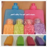 Portable travel bottles to store liquid soap and shampoo