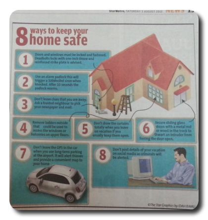 How to keep your home safe from burglars when away during festive holidays