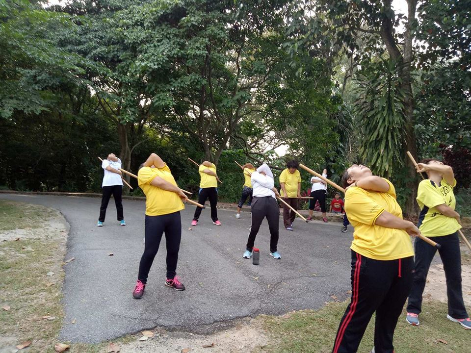 Cane exercise at Bukit DO in Bukit Mertajam