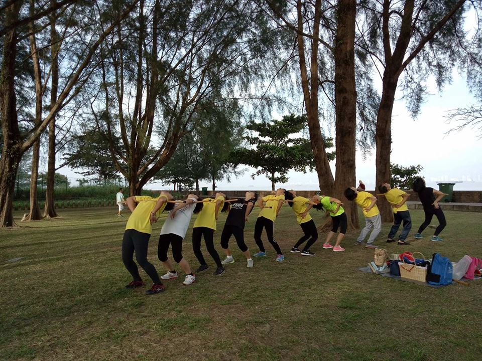 Cane Exercise at Chai Leng Park Penang