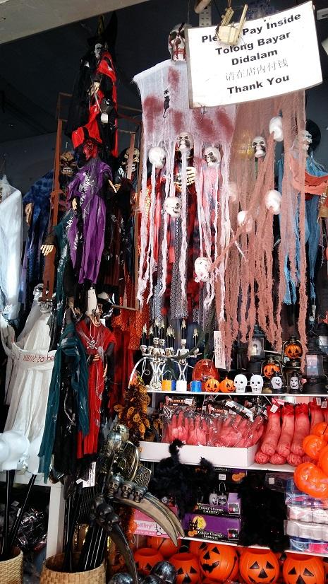 Halloween Shop Displays.Halloween Decoration Sold In Petaling Street Kuala Lumpur Visit