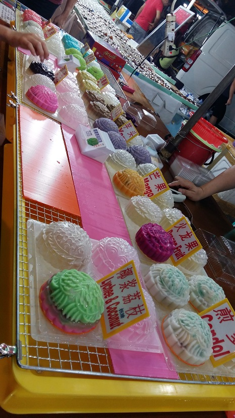 Jelly mooncakes sold in night market in PJ & KL
