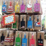 Cute Luggage tags, passport holders and fridge magnets sold in Petaling Street Chinatown