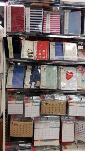 Table calendar, diaries and planner sold at Daiso