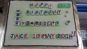 Mah jong cake design
