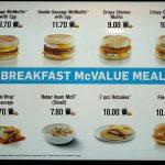 McDonalds Breakfast Menu