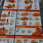 KFC Malaysia Takeaway Menu