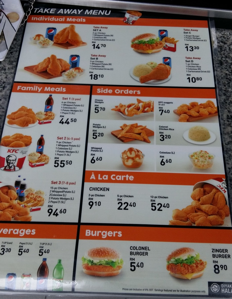 Kfc Malaysia Takeaway Breakfast And Midnight Menu Price And