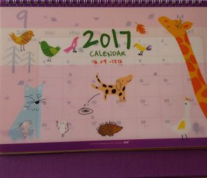 Table calendars from Kaison