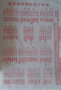 Chinese auspicious date and timing for tasks for 2018