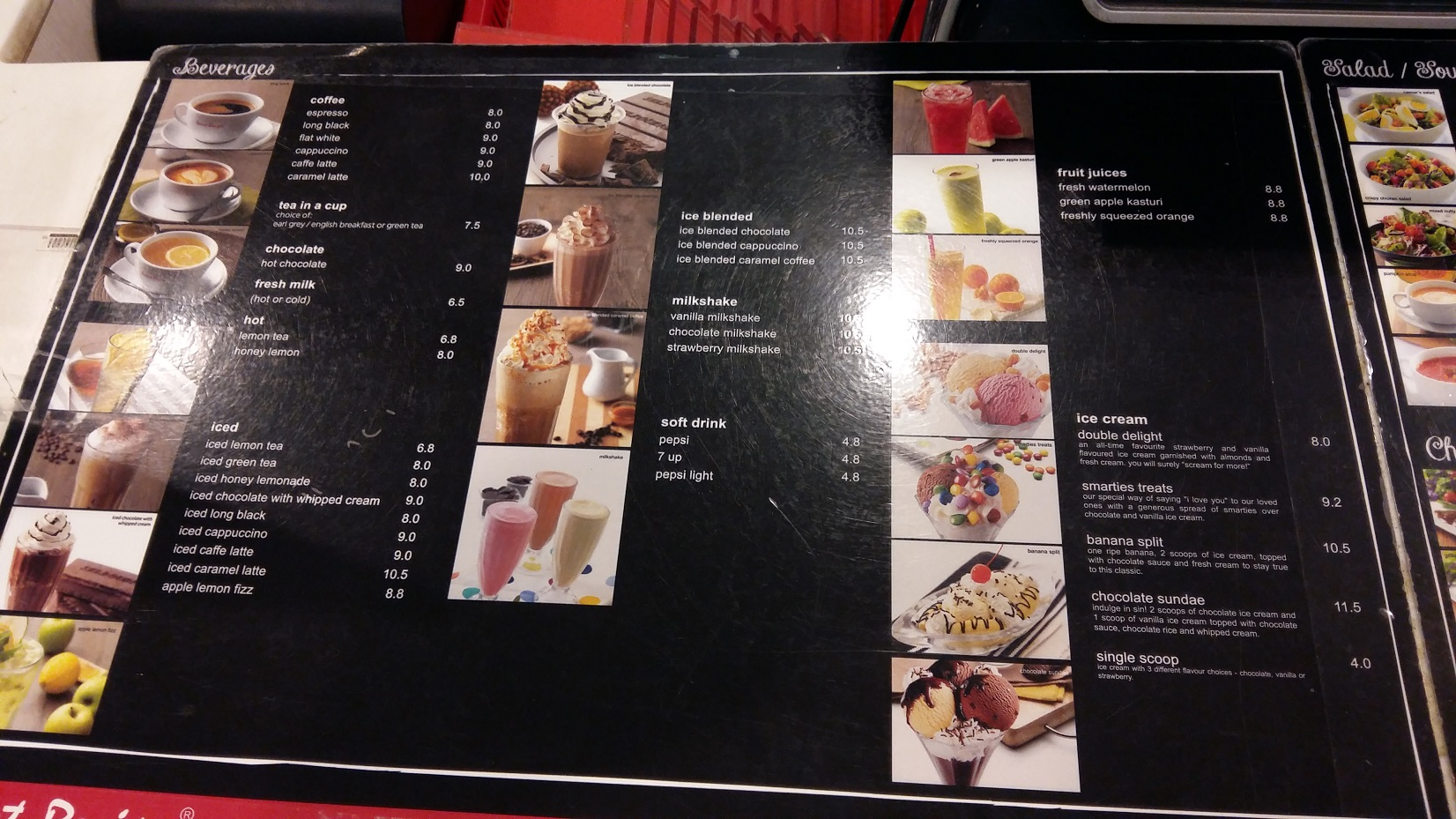 Secret Recipe Malaysia Menu drinks