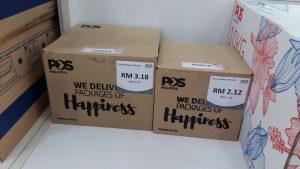 Pos Malaysia boxes