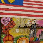 Creative Merdeka theme drawings by children