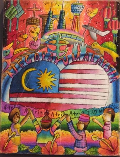 Lukisan dari para pelajar semperna terma Hari Kebangsaan/ Merdeka
