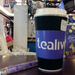 Tealive hot tea with pearl milk tea