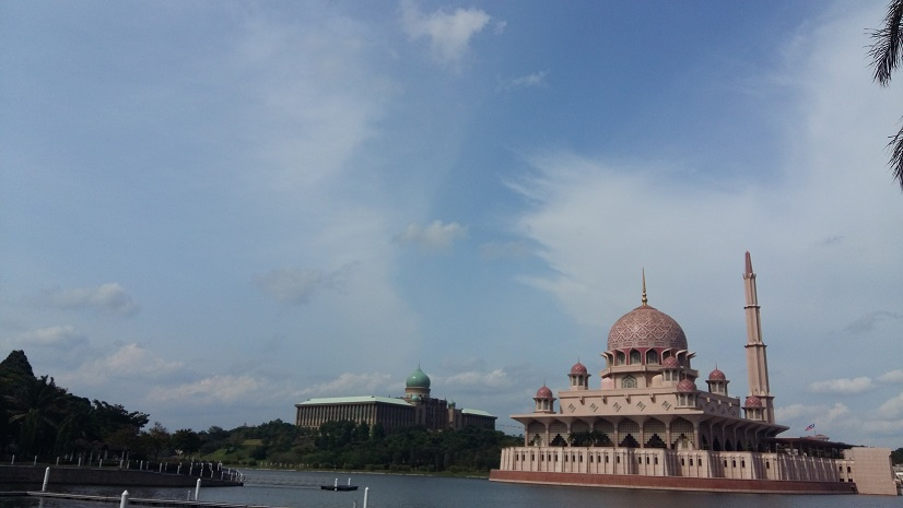 Putrajaya lake and mosque