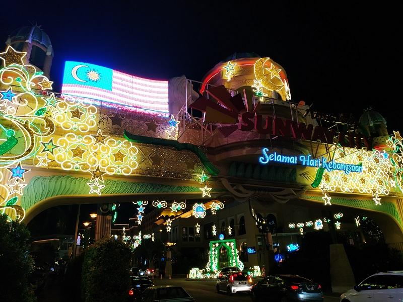 Sunway Pyramid Hari Kebangsaan Merdeka decorations