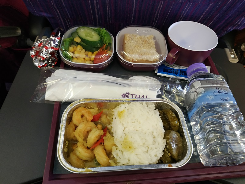 Thai Airways inflight meal