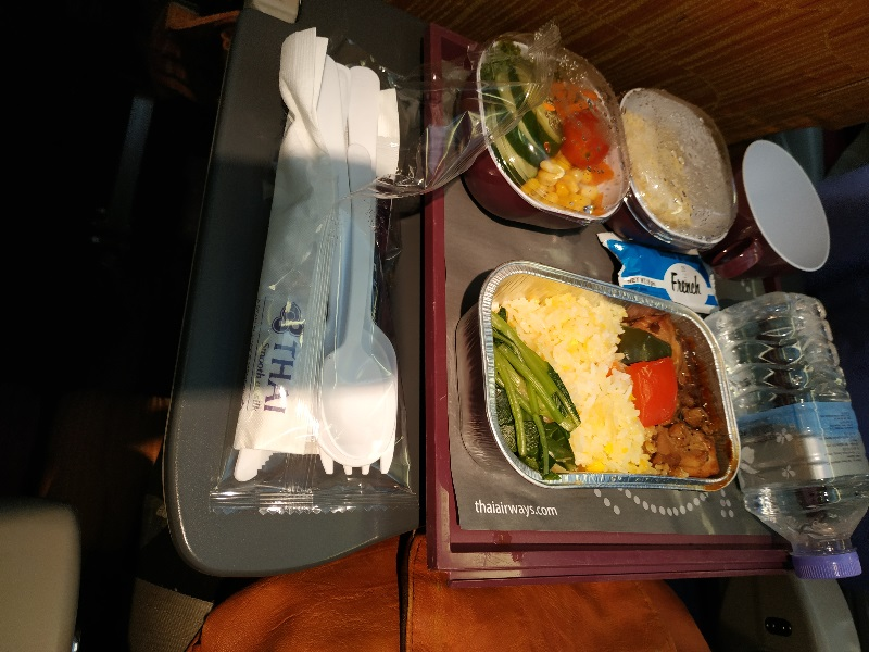 Thai Airways in flight meal