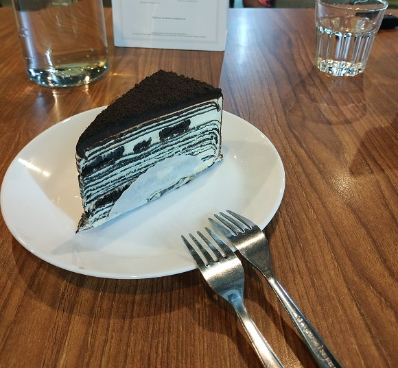 As we went there in almost late afternoon, we only ordered coffee and a piece of cake: