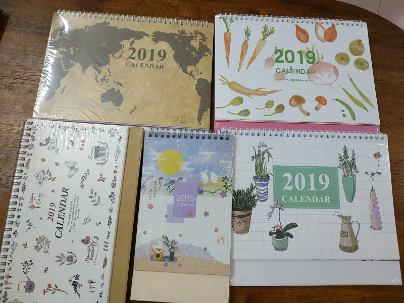 Table calendars sold at Kaison Malaysia