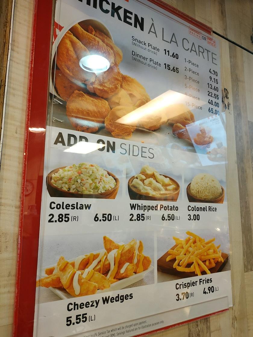 KFC Menu Malaysia