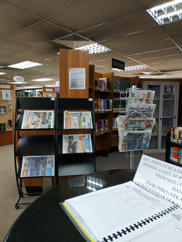 MBPJ library- newspapers